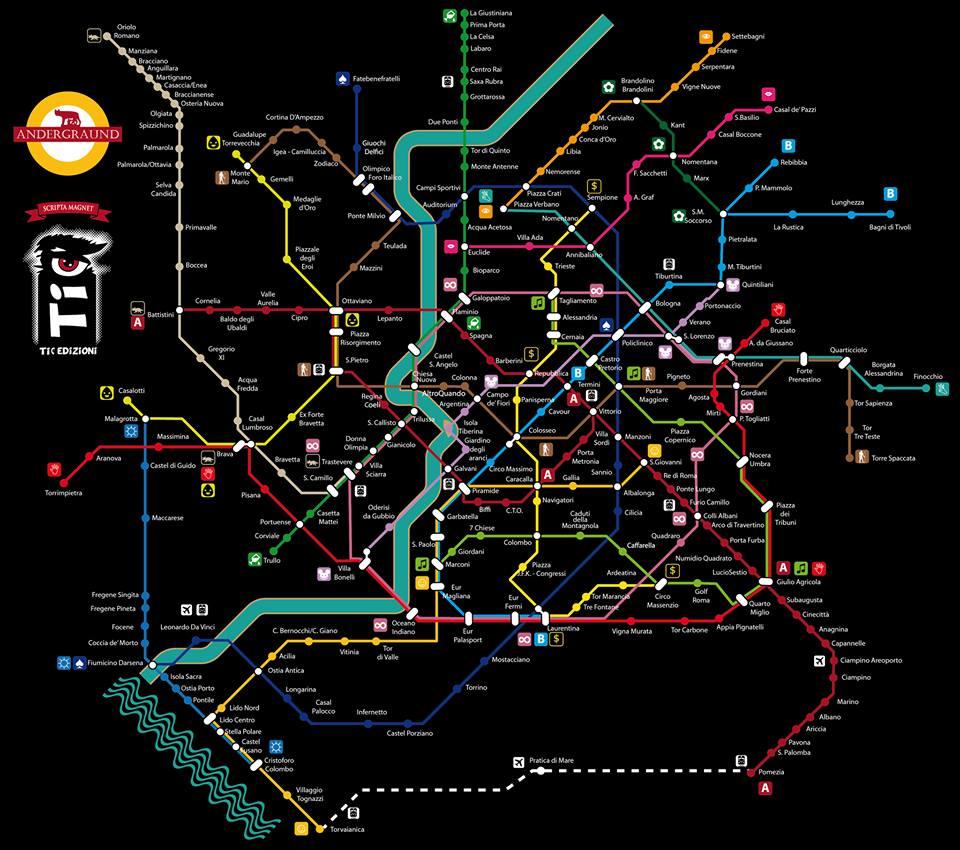Il sogno della mappa Metro di Roma