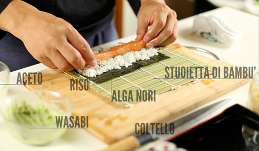 Ingredienti per il sushi fatto in casa